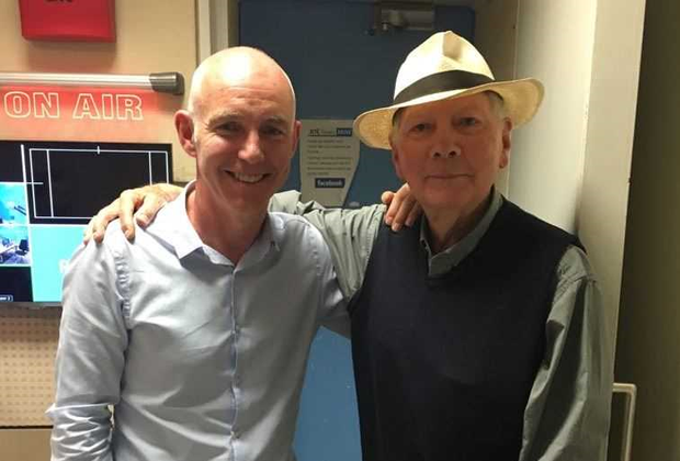 Ray D'Arcy with Gay Byrne at RTE Radio 1