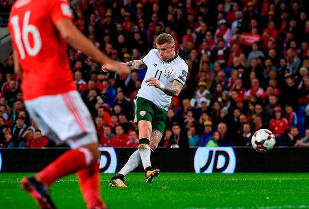 Open play: James McClean v Wales, Oct 9, 2017. Photo: Seb Daly/Sportsfile