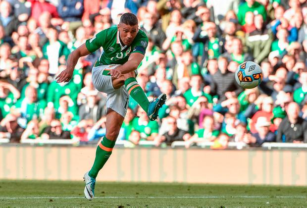 Long ball: Jon Walters v Austria, June 11, 2017. Photo: David Maher/Sportsfile