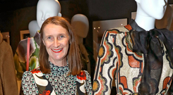 Orla Kiely at the Orla Kiely retrospective, which celebrates her 20-year career at The Fashion and Textile Museum in London