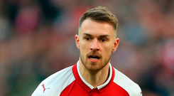 Aaron Ramsey has been offered a new five-year contract by Arsenal and maybe appointed captain. Photo: Nick Potts/PA
