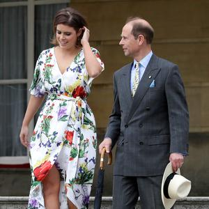 LONDON, ENGLAND - MAY 24: Prince Edward, Duke of Wessex and Princess Eugenie arrive during a day of DofE presentations at Buckingham Palace on May 24, 2018 in London, England. Over 3,000 young people from across the UK received the Gold Duke of Edinburgh Awards at a day of presentations in Buckingham Palace gardens. (Photo by Kirsty Wigglesworth - WPA Pool/Getty Images)