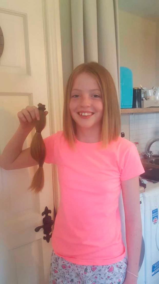Abi after she got the cut for charity