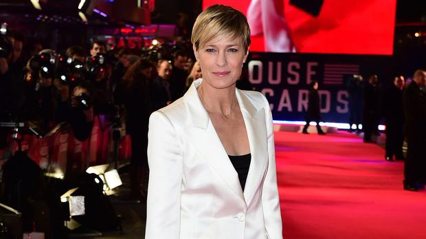Robin Wright has confirmed filming has finished on the final of House of Cards. (Ian West/PA)