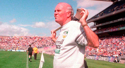 Bond had led Galway to an U-21 All-Ireland in 1983, but hadn't seriously managed a team since becoming principal of St Brigid's Loughrea three years later. Photo: Sportsfile