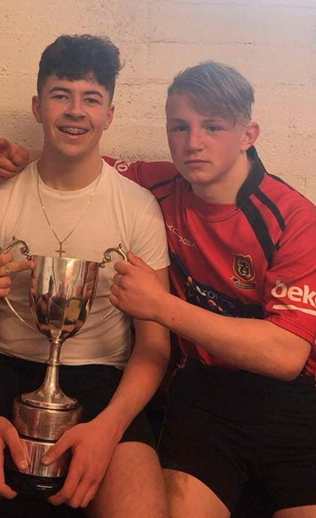 Shay Moloney and Jack Kenneally in an Ennis Rugby Club photo