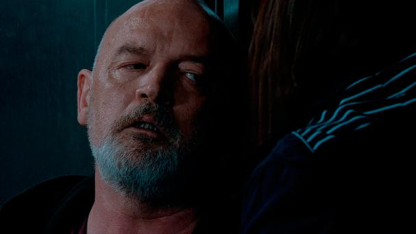 Evil killer Pat Phelan (Connor McIntyre) made a dramatic exit in a gory climax when he was stabbed by Anna Windass (Debbie Rush). Photo: ITV/PA Wire