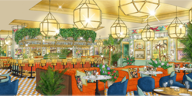 An artist's impression of The Ivy Dawson Street which will open later this summer.