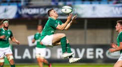 30 May 2018; Michael Silvester of Ireland during the World Rugby U20 Championship 2018 Pool C match between France and Ireland at the Stade Aime Giral in Perpignan, France. Photo by Sportsfile