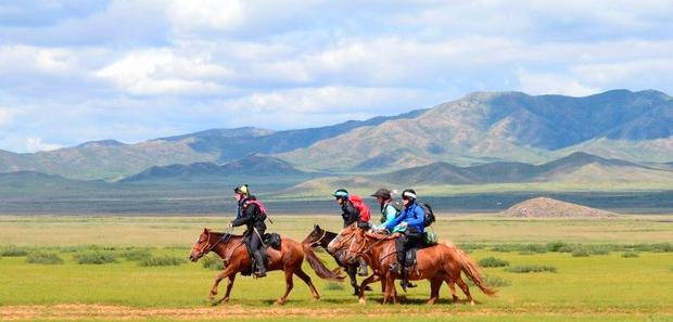 The Mongol Derby lasts 10 days and covers 1,000km across the vast steppes of Central Asia