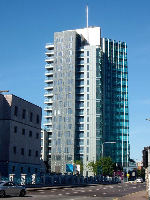 The tallest building in the Republic is The Elysian in Cork at 71m (pictured). This will change when the 79m Capital Dock, now under construction in Dublin, is completed