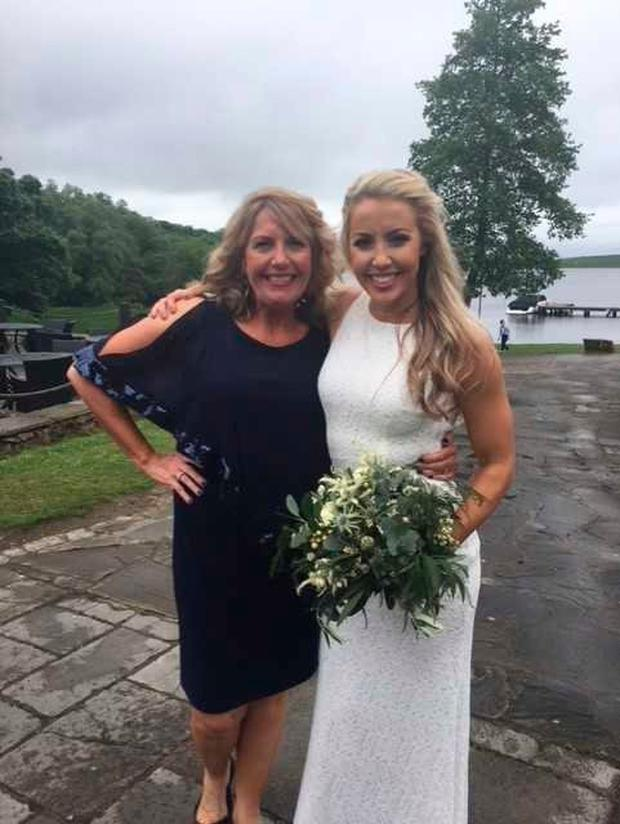 Paula with her daughter Caitlin. They may travel to Ireland to find relatives