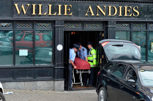 Tragedy: Willie Andies pub, Mitchelstown, Co Cork, where a man died following an incident on Friday night. Photo: Michael Mac Sweeney/Provision
