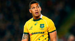 A post shared to Instagram by Australia rugby union star Israel Folau and a subsequent comment on the social platform by the player in relation to homosexuality has led to a heated debate. Photo: Cameron Spencer/Getty Images