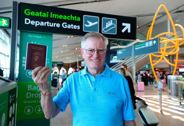 Joe Duff, who used to have a crippling fear of flying, pictured in Terminal 2 at Dublin Airport. Photo: Damien Eagers