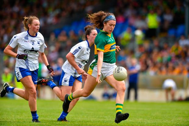 Emma Dineen of Kerry in action against Waterford during the TG4 Munster Senior Ladies Football Championship semi-final match between Kerry and Waterford at Fitzgerald Stadium in Killarney, Kerry. Photo: Sportsfile