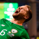 Alan Judge enjoys having the final say, with his first goal for Ireland in his first game back from injury. Photo: Sportsfile