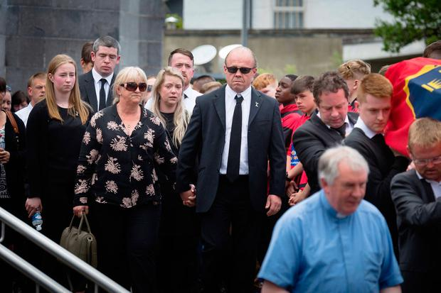 Jack's parents Sean and Tina at the funeral
