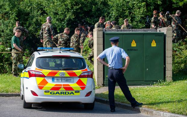 Members of the Defence Forces searching for the missing phone of murdered Carmon Reilly
