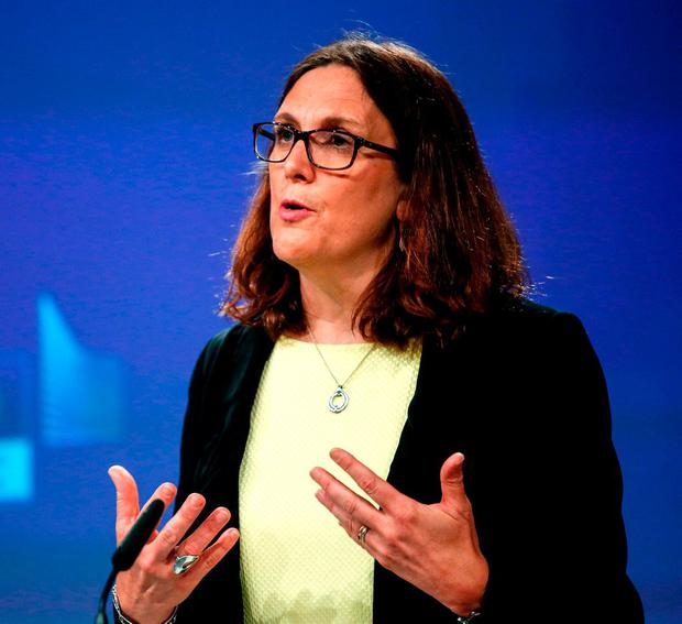 Cecilia Malmstrom the European Union's Trade Commissioner