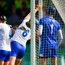 Austin Gleeson of Waterford catches the ball in the square - the umpires ruled the ball had crossed the line and awarded the goal