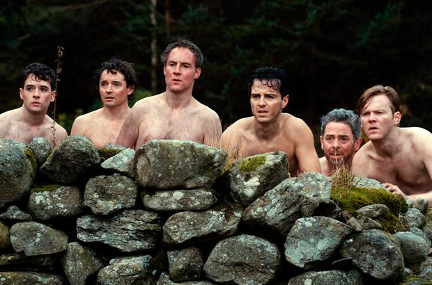 Clothes call: A scene from The Stag which sees the characters nipping out for a few beers