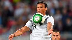 In 12 outings for Germany, Opta say Leroy Sane has provided one assist and no goals. Photo: Getty Images