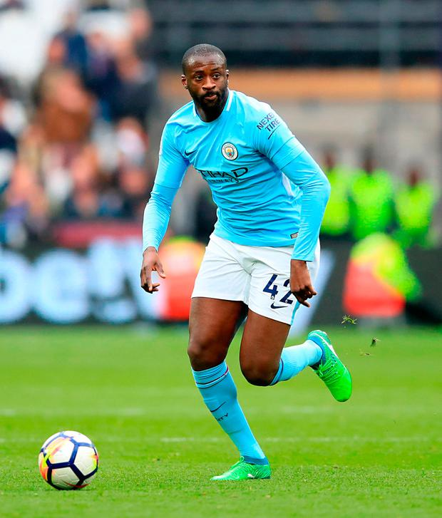 Toure has left City after eight successful seasons. Photo credit: Adam Davy/PA Wire.