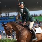 Jonty Evans and his horse Cooley Rorkes Drift. Photo: Stephen McCarthy/Sportsfile
