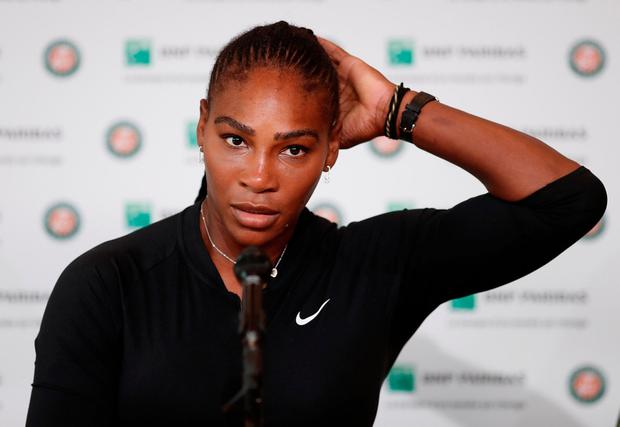 Within half an hour, Williams had arrived in the interview room to explain the circumstances of her withdrawal. Photo: Reuters/Benoit Tessier