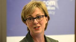 Social Protection Minister Regina Doherty speaking at an event organised by the Institute of International and European Affairs (IIEA) and the European Commission Representation in Ireland. Photo: Fennells