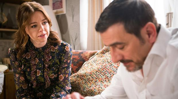 Corrie's Georgia Taylor on 'really tough' baby pact confession scenes (ITV)