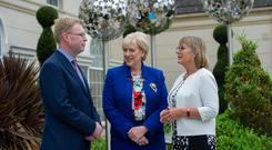 The announcement was made by Minister for Business, Enterprise and Innovation, Heather Humphreys T.D., centre, together with Pat Ryan, CEO of Abtran and Julie Sinnamon, CEO of Enterprise Ireland