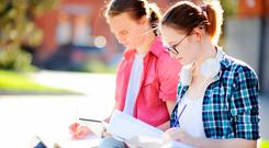 Sunny daze: The sunshine looks set to stick around this week as the Leaving Cert exams start today. Stock Image