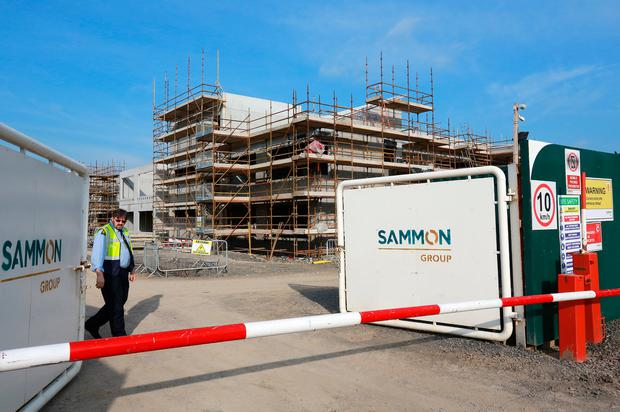 The entrance to the new €30m Maynooth Education Campus that was being built by the Sammon group, which has now gone into liquidation. Photo: Frank McGrath