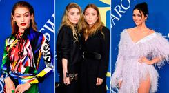 (L to R) Gigi Hadid, Mary-Kate and Ashley Olsen and Kendall Jenner at the 2018 CFDA Awards