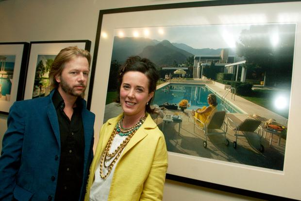 Comedian David Spade and his sister Kate Spade attend a gallery exhibition of photographer Slim Aarons' work curated by Kate Spade at Fred Segal Cafe on February 16, 2006 in Los Angeles, California. (Photo by Matthew Simmons/Getty Images)