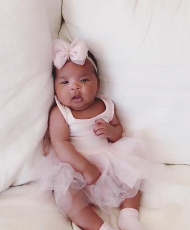 Khloe Kardashian shared this picture of her baby daughter True Thompson. Picture: Instagram