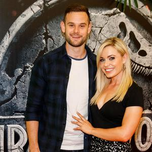 Kevin Sexton and Anna Geary at the Irish premiere screening of Jurassic World: Fallen Kingdom at Odeon Point Square, Dublin. Picture: Andres Poveda