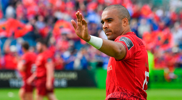 19 May 2018; Simon Zebo of Munster after the Guinness PRO14 semi-final match between Leinster and Munster at the RDS Arena in Dublin. Photo by Brendan Moran/Sportsfile