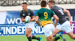 3 June 2018; James Hume of Ireland during the World Rugby U20 Championship 2018 Pool C match between South Africa and Ireland at the Stade d'Honneur du Parc des Sports et de L'Amitie in Narbonne, France. Photo by Stéphanie Biscaye / World Rugby via Sportsfile