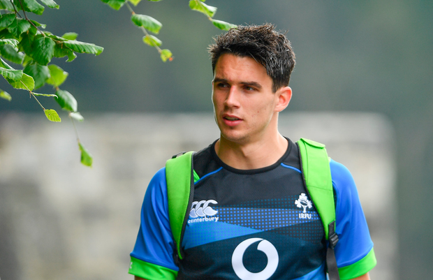31 May 2018; Joey Carbery during Ireland squad training at Carton House in Maynooth, Co. Kildare. Photo by Ramsey Cardy/Sportsfile