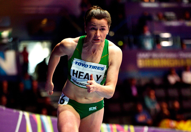 2 March 2018; Phil Healy of Ireland in action during the Women's 400 Metres Heats on Day Two of the IAAF World Indoor Championships at the Birmingham Arena in Birmingham, England. Photo by Sam Barnes/Sportsfile