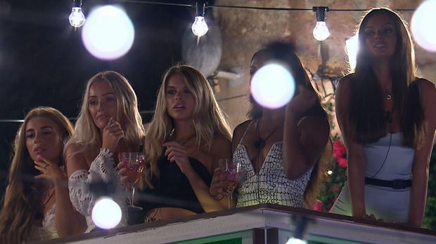 The Love Island girls had to watch the newcomers meet the boys (ITV/Rex/Shutterstock)