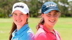 Leona (left) and Lisa Maguire are all set to embark on professional careers