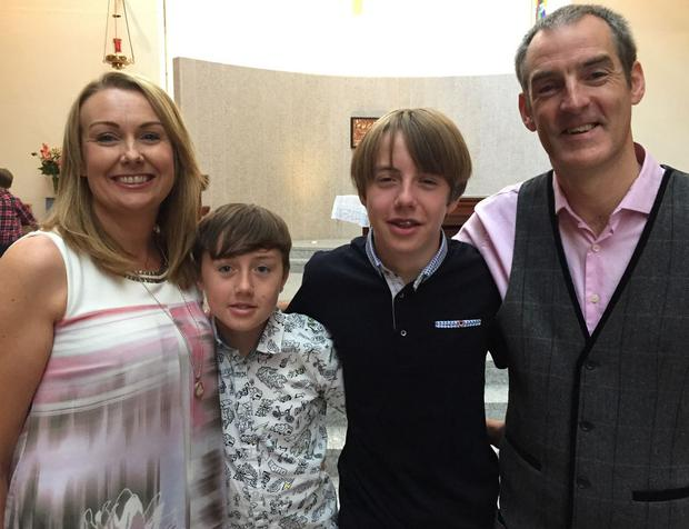 John 'Ogie' Sheehy pictured with his family