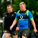 7 June 2018; John Ryan arrives for Ireland rugby squad training at Royal Pines Resort in Queensland, Australia with Jack McGrath. Photo by Brendan Moran/Sportsfile