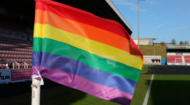 A rainbow corner flag (Photo by Pete Norton/Getty Images)