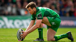 28 April 2018; Jack Carty of Connacht during the Guinness PRO14 Round 21 match between Connacht and Leinster at the Sportsground in Galway. Photo by Brendan Moran/Sportsfile
