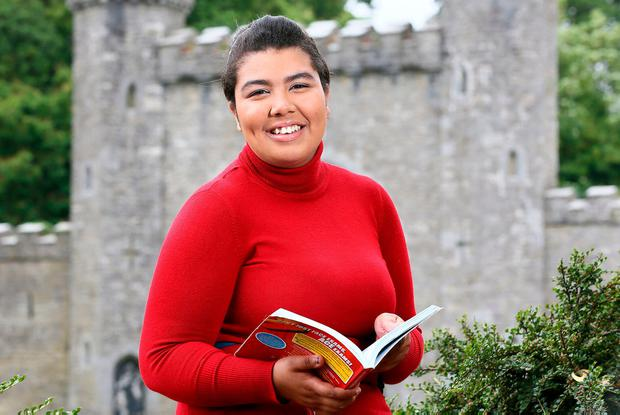 Leaving Cert student Eboni Burke from Slane, Co. Meath. Photo: Frank McGrath